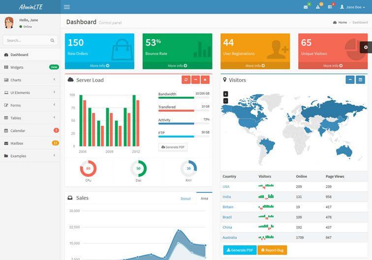 20 Templates Bootstrap cho Admin Dashboard miễn phí - Ảnh 10.