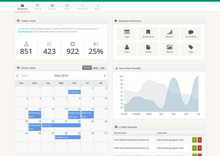 20 Templates Bootstrap cho Admin Dashboard miễn phí - Ảnh 15.