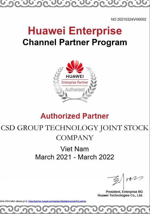 Nhà phân phối Huawei Business Partner
